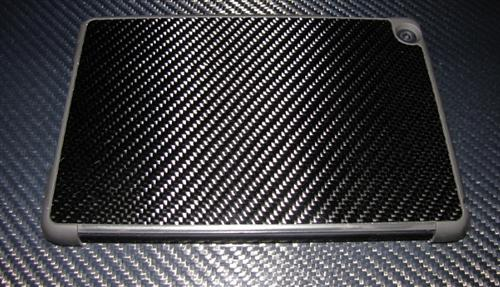 Passend für Apple IPAD MINI  I-PAD Echt Carbon Luxus Schutzhülle Case mit Smart Cover Op