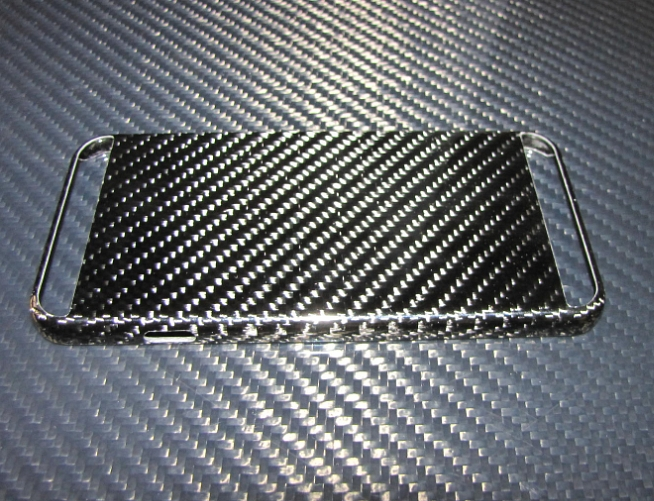 Passend für Apple IPHONE6 S I-PHONE6  Echt Carbon *Anti Biegung Schutz Cover Case V2