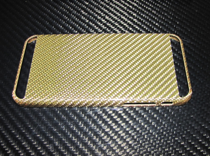 Passend für Apple IPHONE6 S I-PHONE6  Echt GOLD-Carbon Luxus Schutzhülle Cover Case V2