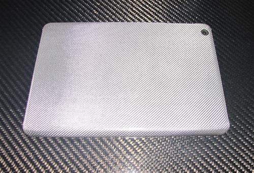 Passend für Apple IPAD MINI 1 2 3  I-PAD Echt SILBER-Carbon Luxus Schutzhülle Case