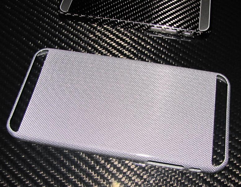 Für Apple IPHONE6 S I-PHONE6  PLUS Echt Silber-Carbon Schutzhülle Cover Case V2