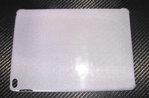 Für Apple IPAD AIR2 IPADAIR2 Silber Carbon Luxus Schutzhülle Case Smart Cover