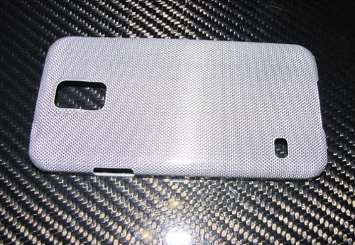 Für Samsung Galaxy S5 Echt Silber-Carbon Luxus Schutzhülle Cover Case