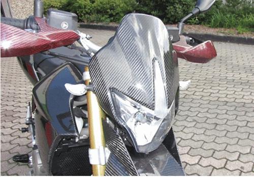 Für Aprilia Dorsoduro SMV 750  Carbon Matt Kanzel Maske NEU