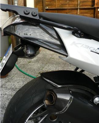 Für BMW K1300S K 1300 S Echt Carbon Heck Verkleidung