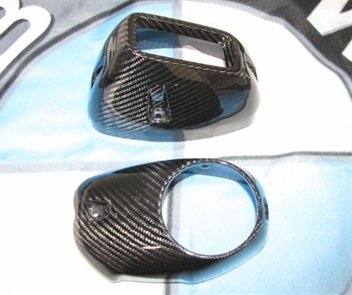 Für BMW R1200 GS R GS1200 LC Echt Carbon Auspuff Abdeckung oben und unten 2013