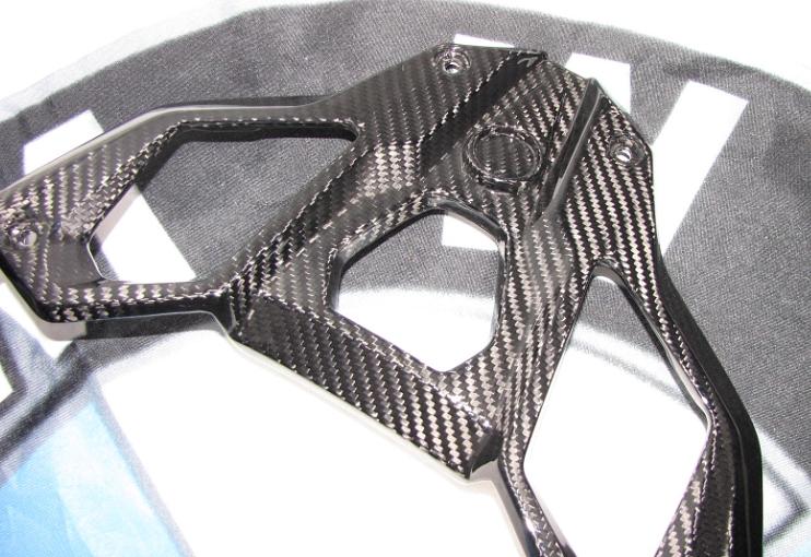 Für BMW R1200 GS R GS1200  LC Echt Carbon Heck Rahmen Sozius Griffe 2013