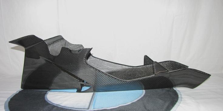 Passend für BMW R1200S R 1200 S Echt Carbon Verkleidung BUG