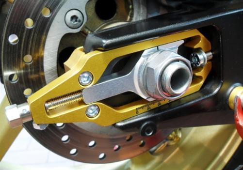 4Racing Passend für BMW S1000RR S 1000 RR S1000RR Kettenspanner ROT  SCH