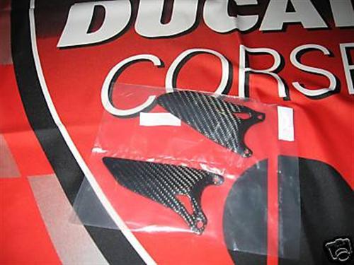 Ducati Echt Carbon 1098 R Fersenschutz Fussrasten