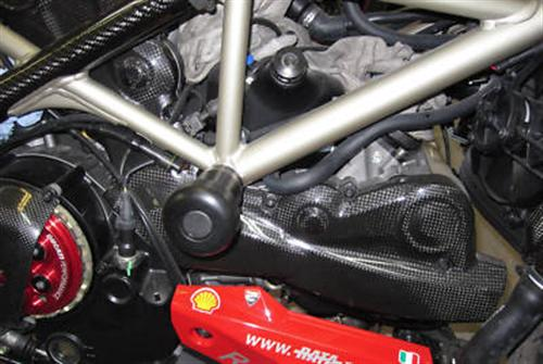 Ducati Streetfighter 1098 848 Carbon  Motor Abdeckung 2teil
