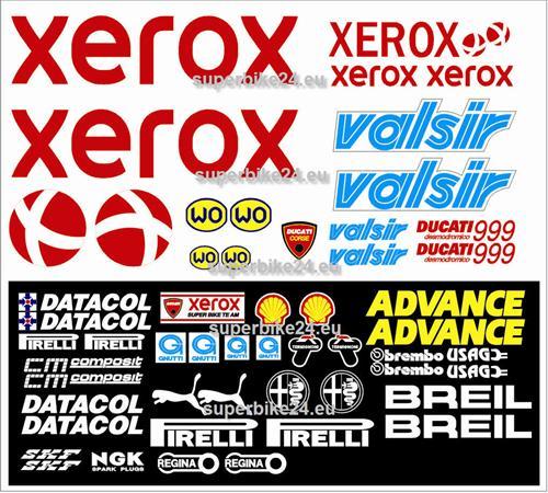 Ducati 748 916 996 998 999 10981199 1099 848 Panigale Aufkleber-Set *08*Xerox