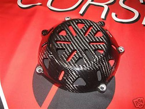 DUCATI ECHT CARBON Kupplungsdeckel Clutch Cover OPEN