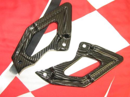 Passend für Ducati Hypermotard ECHT Carbon Fersenschutz vorne 1100S 1100