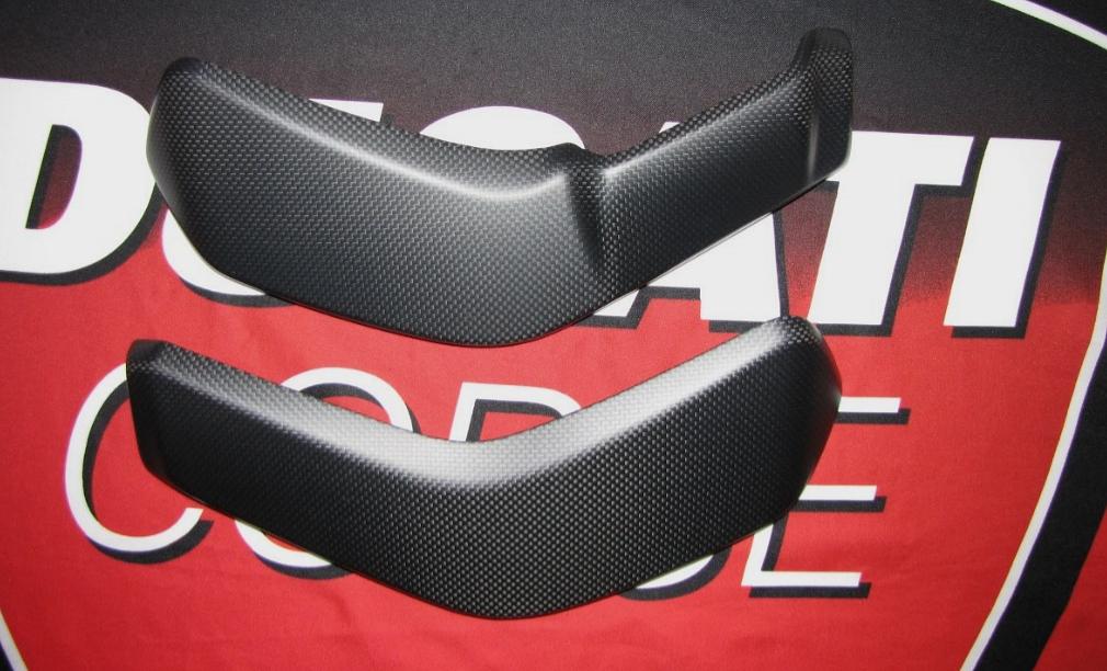 Für Ducati XDiavel Echt MH Carbon fein matt Kühler Verkleidung
