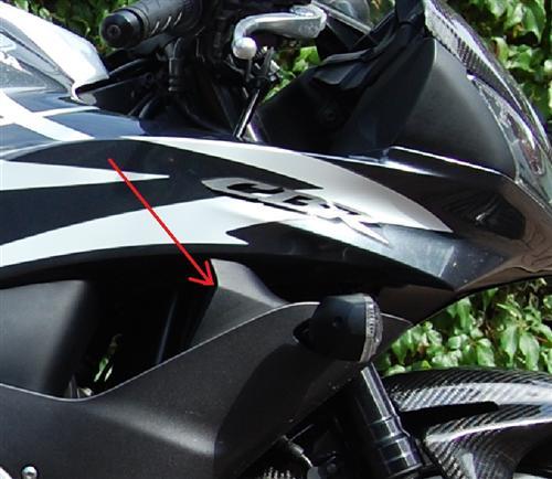 Passend für Honda CBR 600 PC40Carbon zwichen Verkleidung Blinker