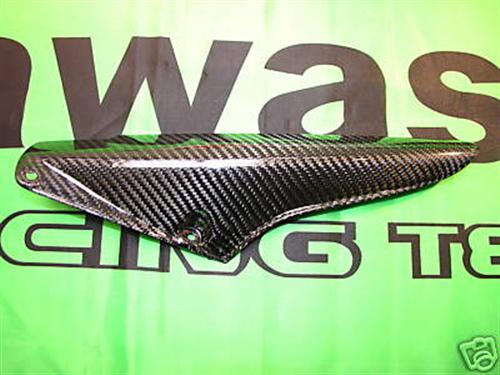 Für Kawasaki ER6 F Echt Carbon Kettenschutz Abdeckung NEU