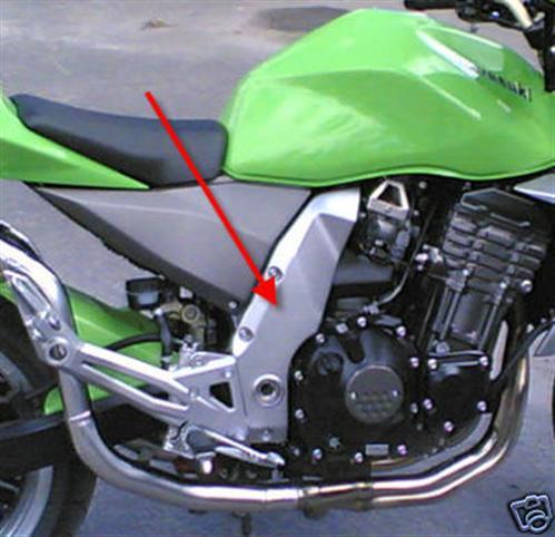Passend für Kawasaki Z1000 04-06 Echt Carbon Seitenteile Rahmen NEU