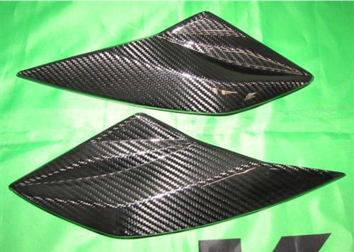 Passend für Kawasaki Z1000 2010-11 Echt Carbon Maske Seitenteile