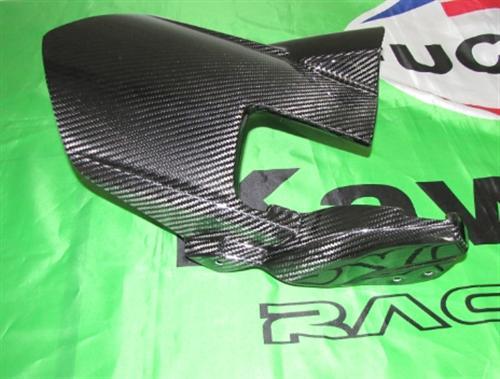 Passend für Kawasaki Z1000 2010-11 Echt Carbon Hinterradabdeckung