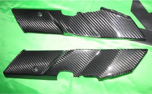 Passend für Kawasaki Z1000 2010-11 Echt Carbon Gabel Abdeckungen