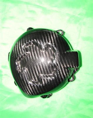 Passend für Kawasaki Z1000 2014 Echt Carbon Kevler Lima Lichtmaschine Schutz Cover V2