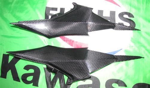 Passend für Kawasaki Z800 ab 2013 Echt Carbon Rahmen Seitenteile Verkleidung
