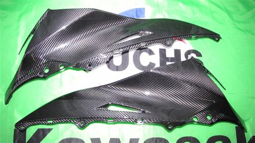 Für Kawasaki ZX10-R ZX10R Carbon Seiten Verkleidung ab 2011