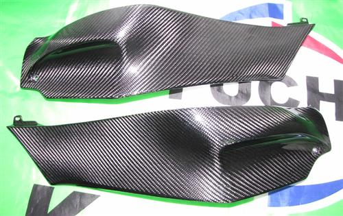 Für Kawasaki ZX10-R ZX10R Carbon Seiten Verkleidung Tank  ab 2011