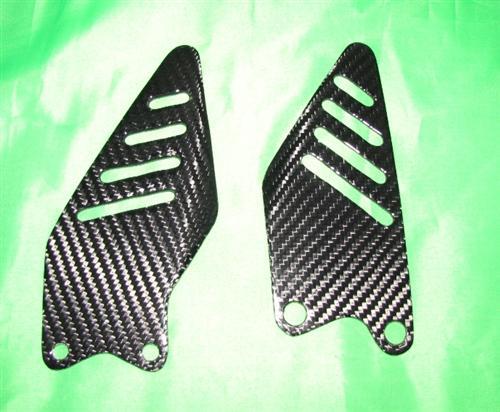 Für Kawasaki ZX6-R 2009 09 Carbon Fersenschützer NEU