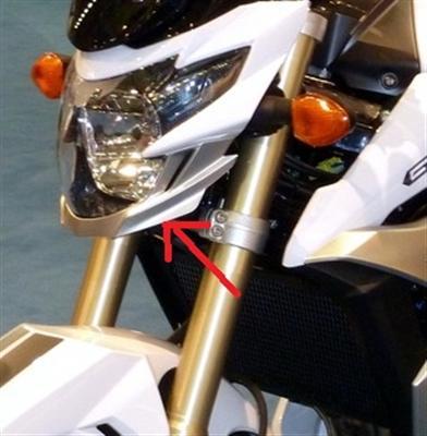 Für Suzuki GSR750 GSR 750 Carbon Lampen Maske unten Schweinwerfer