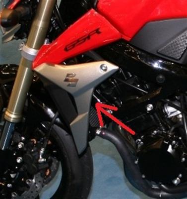 Für Suzuki GSR750 GSR 750 Carbon Verkleidung Kühler
