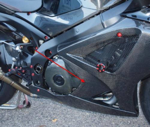 Passend für Suzuki Carbon Seiten Verkleidung mitte K7 K8 GSX-1000