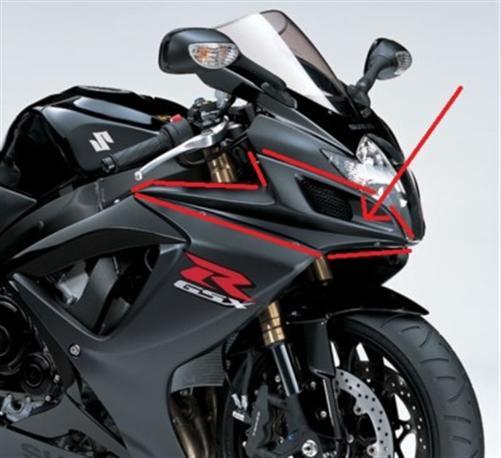 Passend für Suzuki Carbon RAM AIR Verkleidung GSX-R600 750 K6 K7 **