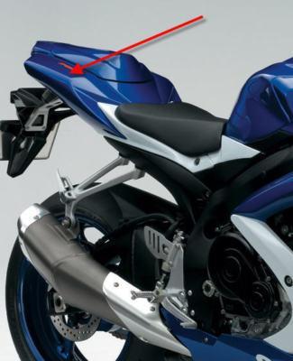 Passend für Suzuki  Carbon Heck Verkleidung GSX-R 600 750 K9 K8