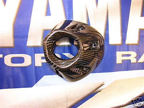 Für Yamaha  Fazer FZ1N 06-09 Echt Carbon Auspuff Abdeckung