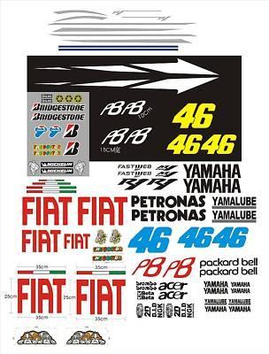 Passend für Yamaha RN12 RN19 RJ11 R6 Aufkleber-Set Rossi FIAT 2010