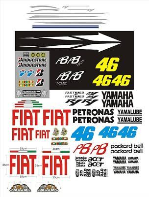 Für Yamaha RN12 RN19 RJ11 R6 Aufkleber-Set Rossi FIAT 2010