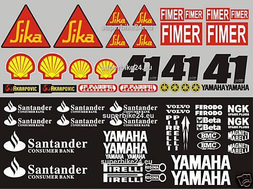 Für Yamaha RN19 R6 Aufkleber-Set Nitro Haga Santander 09NEU
