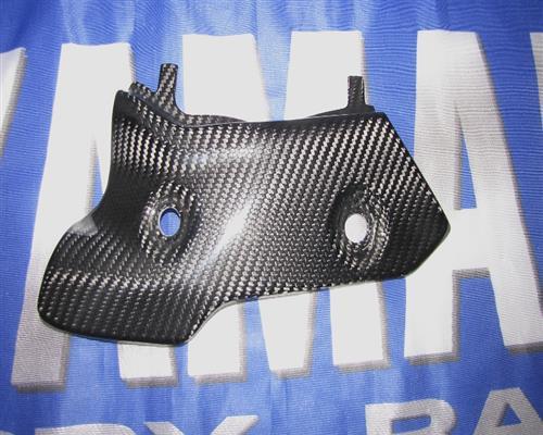 Passend für Yamaha RN32 R1 2015 Echt Carbon Hitzeschutz Auspuff-3 Vorne links