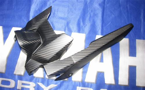 Passend für Yamaha YZF MT07 MT-07 RM04 Carbon Matt Hinterradabdeckung mit Kettenschutz