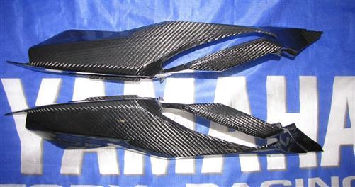 Passend für Yamaha YZF MT07 MT-07 RM04 Carbon Heck Seiten Verkleidung Heckverkleidung