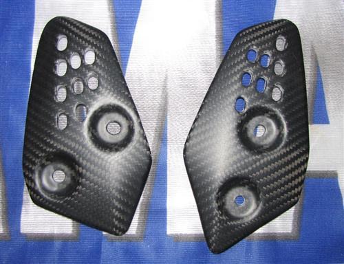 Passend für Yamaha YZF MT07 MT-07 RM04 Carbon Matt Fersenschutz Fersen Schutz