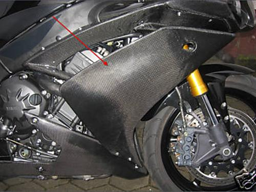 Passend für Yamaha R1 2007 08 RN19 YZF Echt Carbon Verkleidung