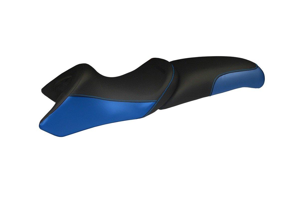 Passend für BMW R 850 R 1995-2007 Sitzbank Carbon look Sitzbezug Blau So