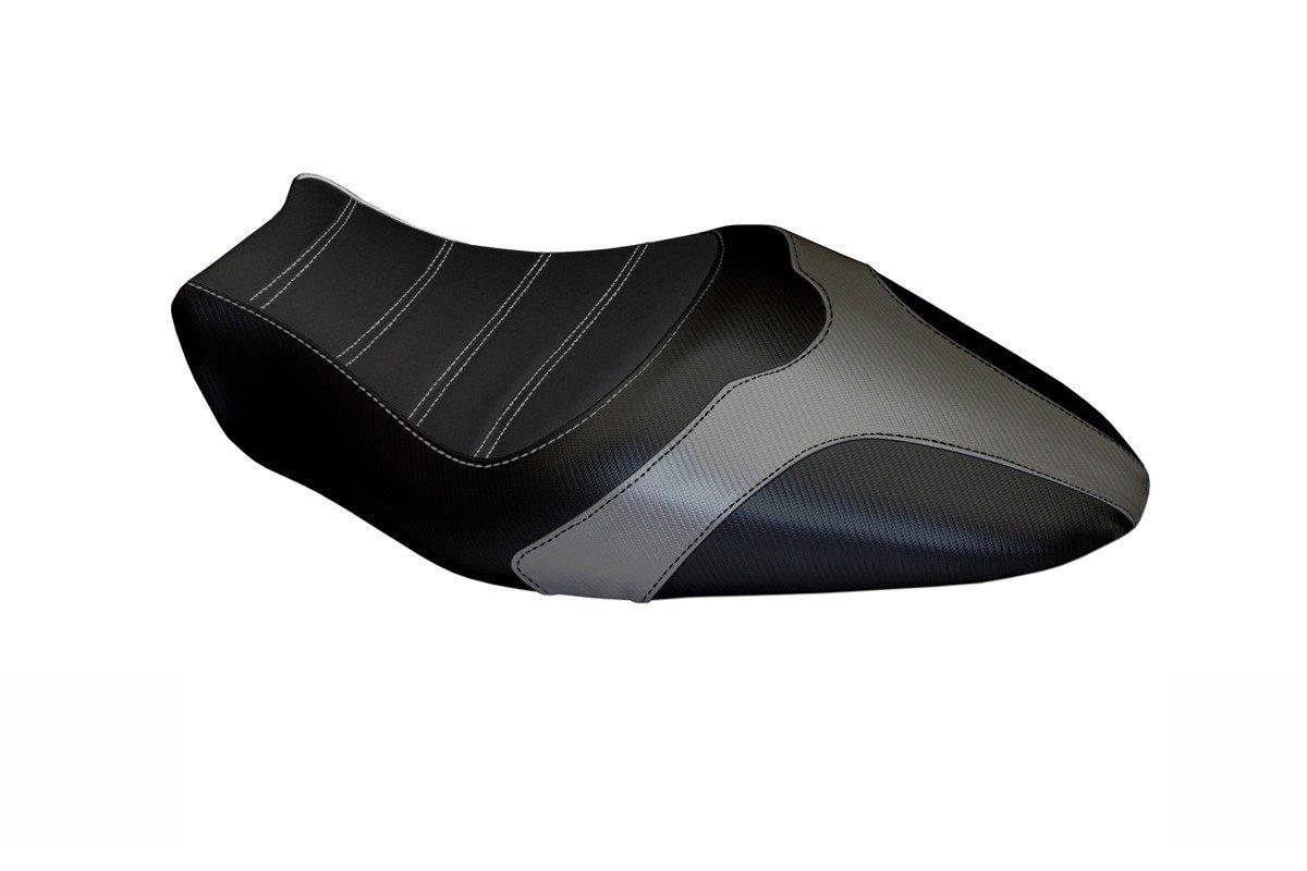 Passend für Ducati Monster 821 / 1200 2014-16 Sitzbank Carbon look Sitzbezug Gra