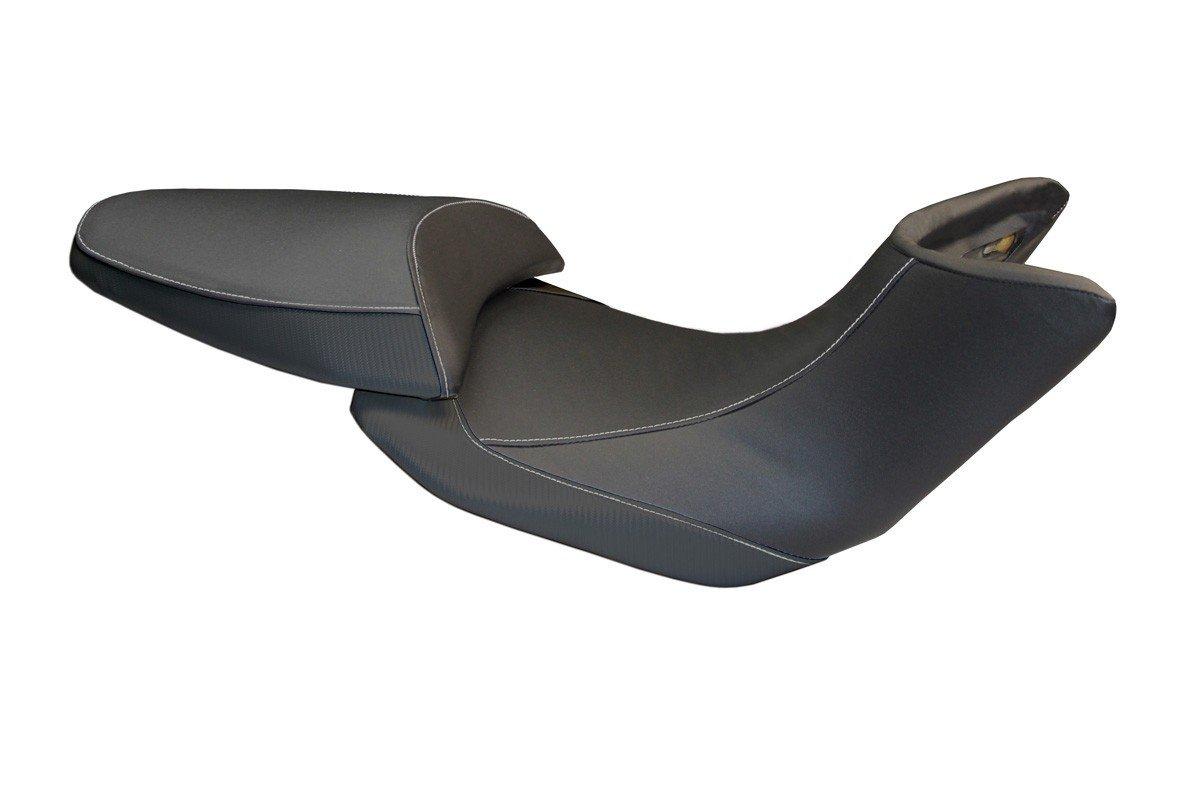 Passend für Ducati Multistrada 1200 2012-14 Sitzbank Carbon look Sitzbezug Soziu