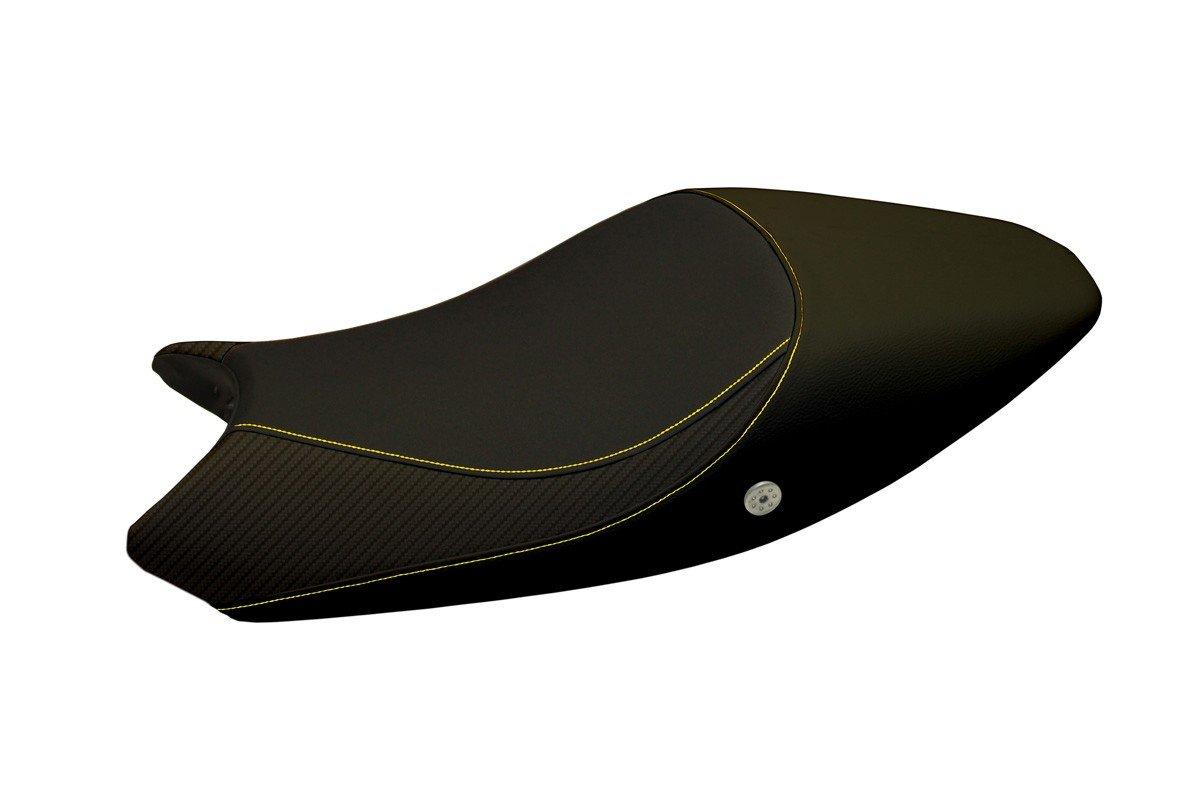 Für Ducati Monster 696 / 796 /1100 08-13 Sitzbank Carbon look Sitzbezug Gelb