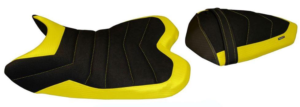 Passend für Yamaha R1 2009-2014 Sitzbank Carbon look Sitzbezug BELFAST 1 ULTRAGRIP