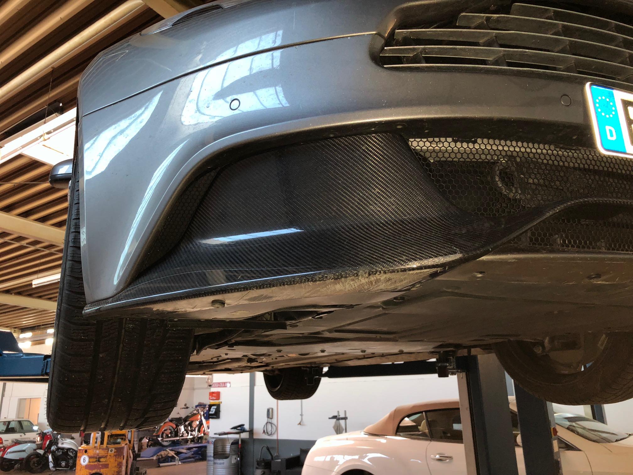 Aston Martin Echt Carbon Lippe Spoiler Front Vanquish V12